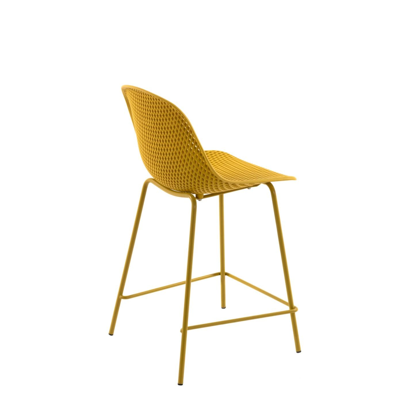 Luino Outdoor Stool Yellow Height 65 cm, Barstool - Home-Buy Interiors