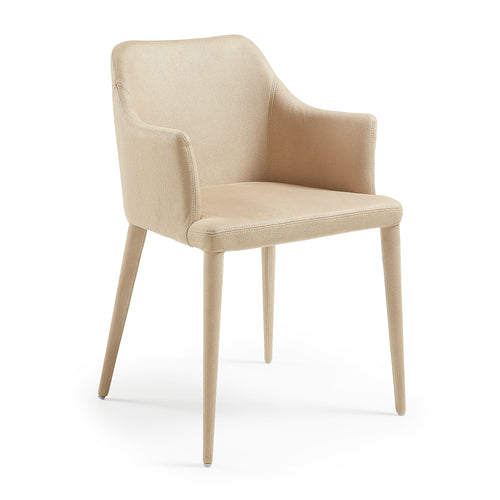 Chad Armchair - Nubuck Fabric Beige, Dining Chair - Home-Buy Interiors