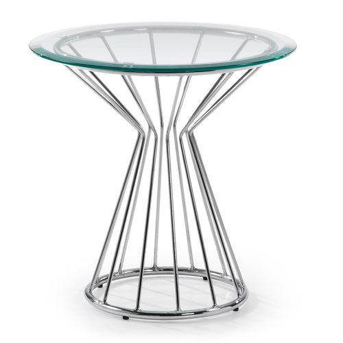 Danika Side Table - Chrome, Table - Home-Buy Interiors