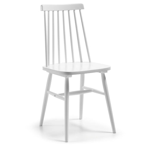 Danish Chair in Solid Timber Painted White - Home-Buy Interiors