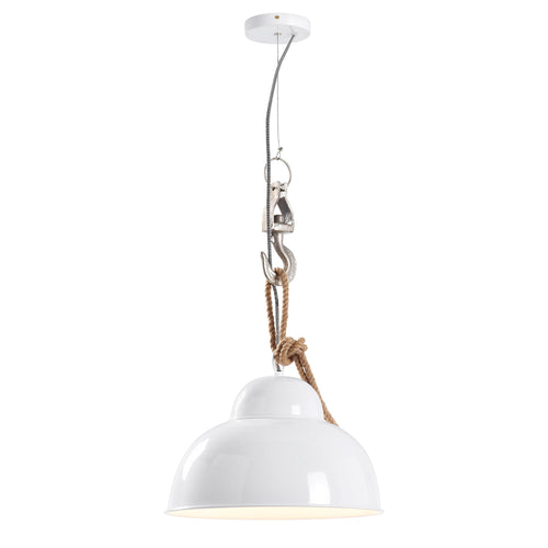 Emerson Pendant Light - Metal White, Lighting - Home-Buy Interiors