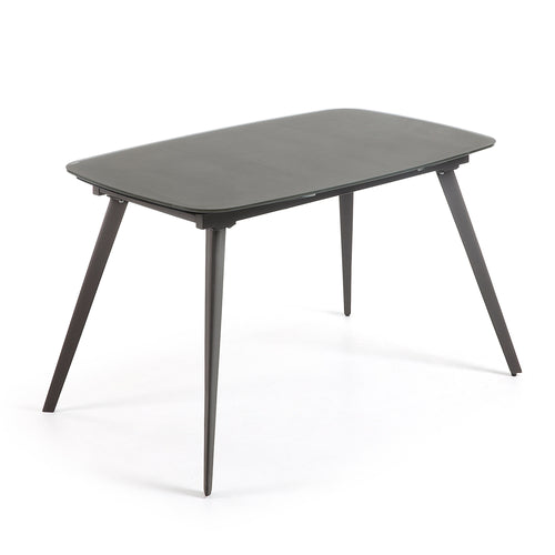 Fraser Glass extension Table 140-210 cm- Anthracite - Home-Buy Interiors