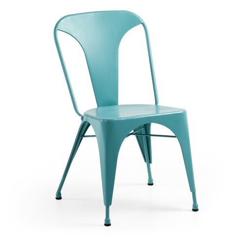 Georgi Chair - Metallic Pure Turquoise, Chair - Home-Buy Interiors