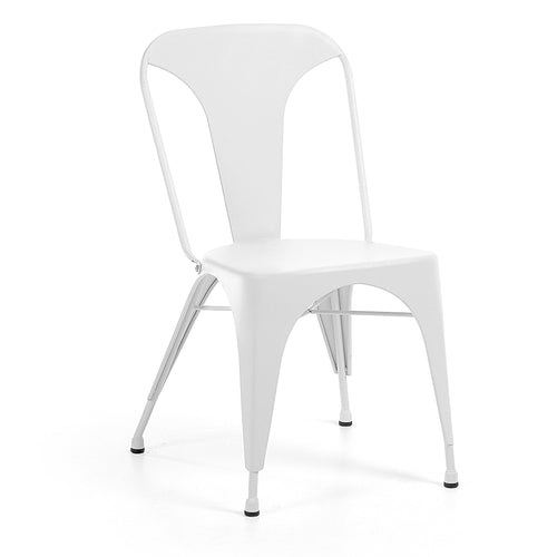 Georgi Chair - Metallic Pure White, Dining Chair - Home-Buy Interiors