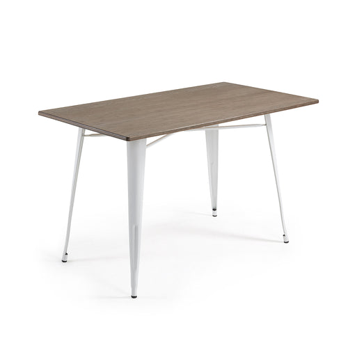 Georgi Table - Metal White Bamboo, Table - Home-Buy Interiors