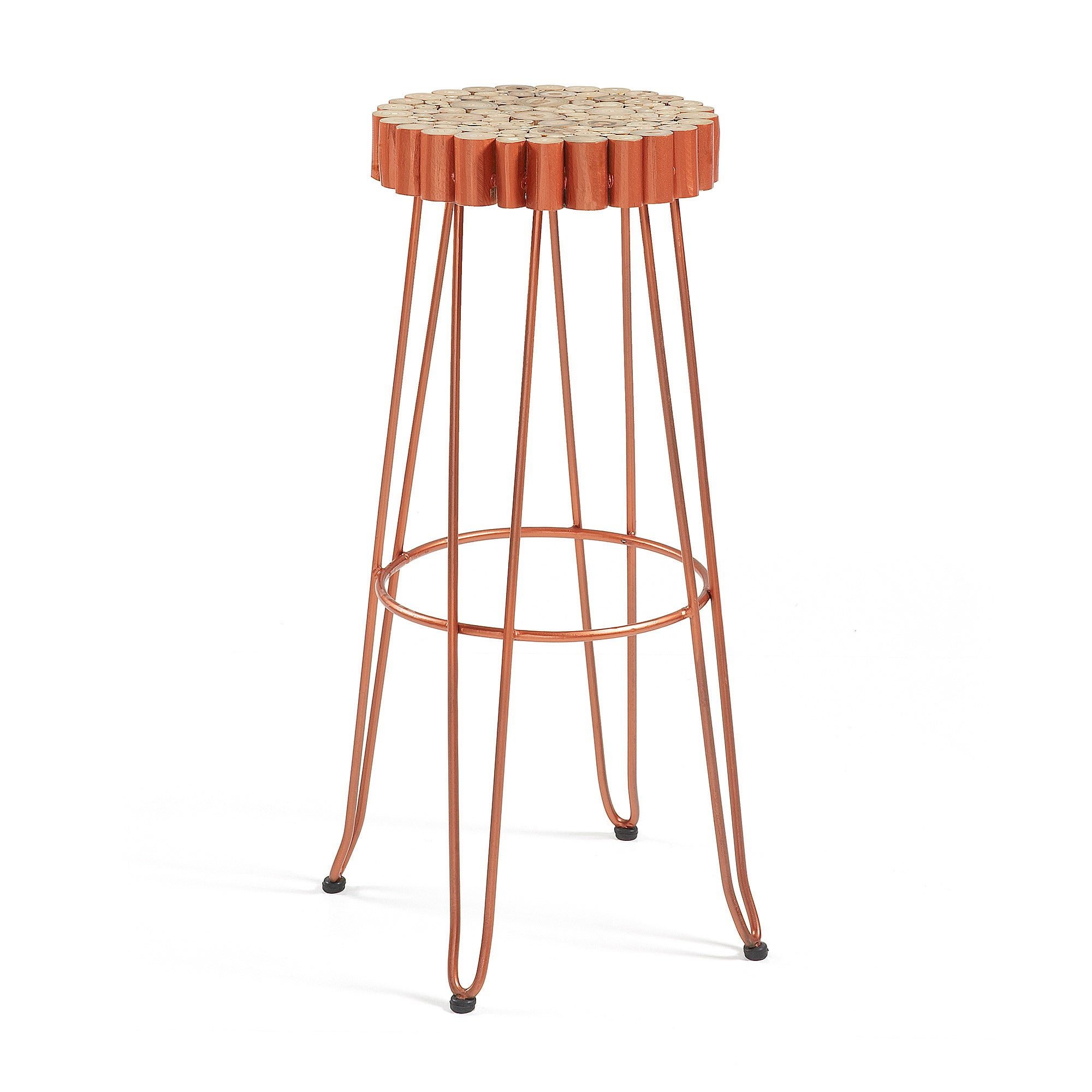 Juno Barstool - Natural Metal Copper, Stool - Home-Buy Interiors