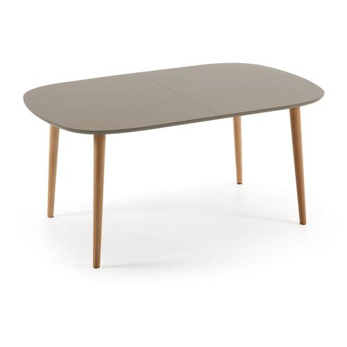 Liberty Oval Table 160(260) Ext Wood Nat Lac Matt Brown, Table - Home-Buy Interiors