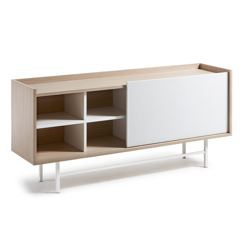 Milly Sideboard 155 x 70 oak veneer matt white, Sideboards/Display Units - Home-Buy Interiors