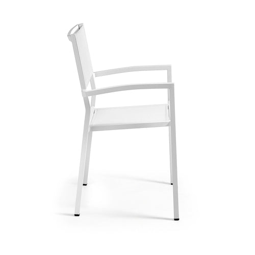 Alfie Armchair Aluminium White - Home-Buy Interiors