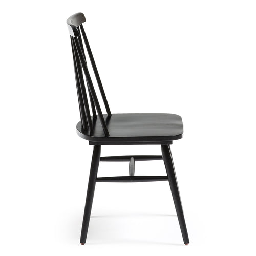 Danish Chair - Wood, Black, Chair - Home-Buy Interiors