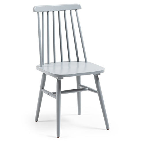 Danish Chair in Solid Timber Painted Light Grey - Home-Buy Interiors