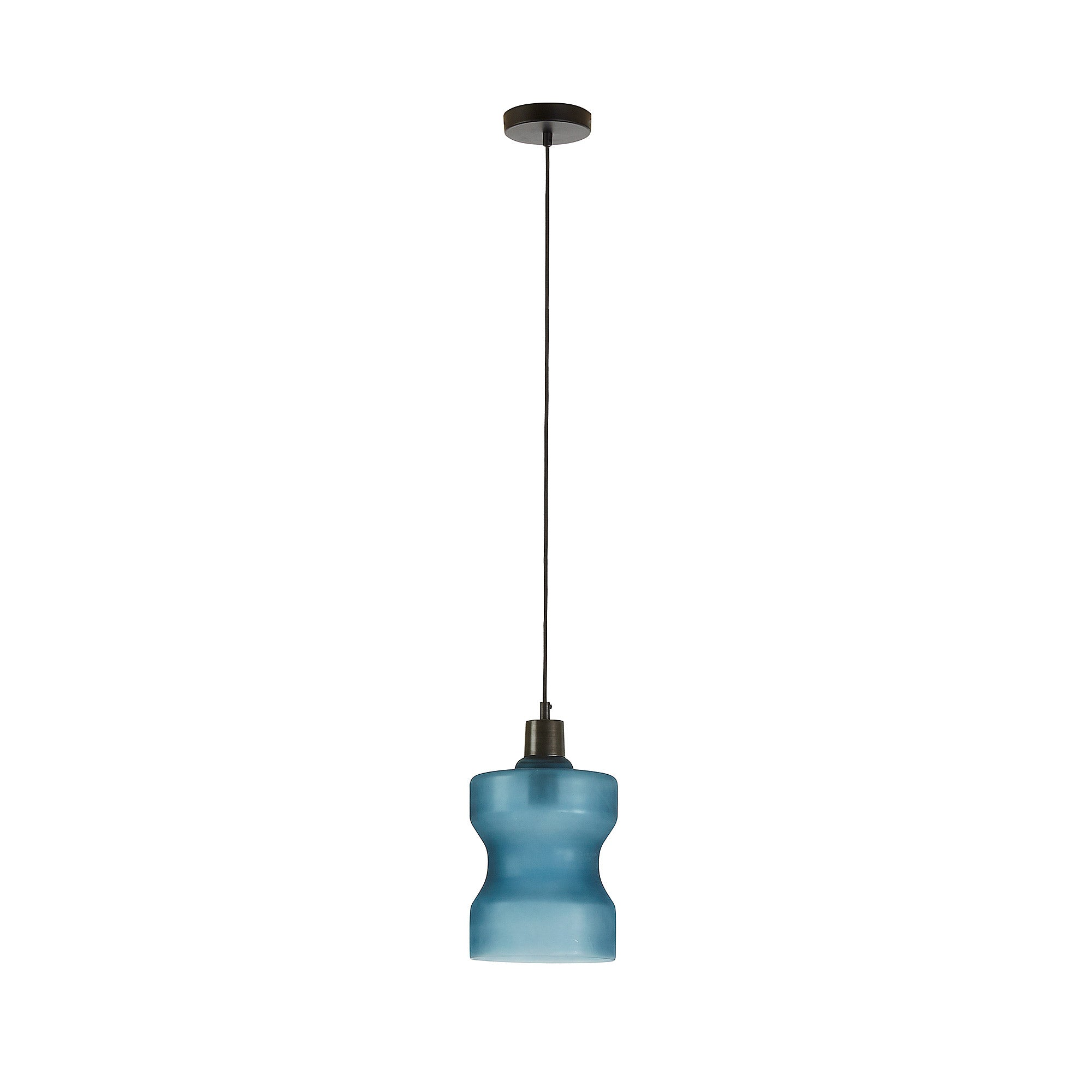 Manuel Pendant Light - Glass Blue, Lighting - Home-Buy Interiors