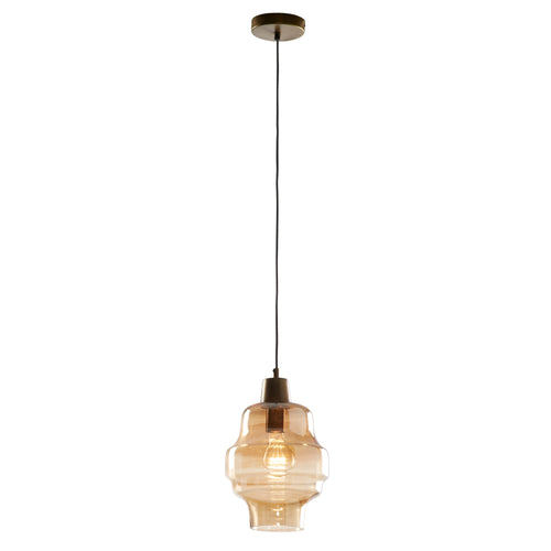 Rhett Pendant Light - Glass Amber, Lighting - Home-Buy Interiors