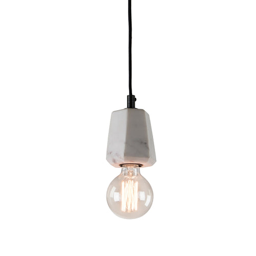 Heidi Pendant Light - Marble White, Lighting - Home-Buy Interiors