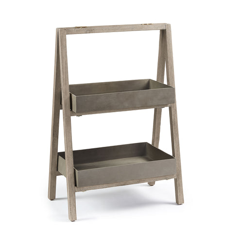 Kai Shelf - White Brushed Cement Brown, Decor - Home-Buy Interiors