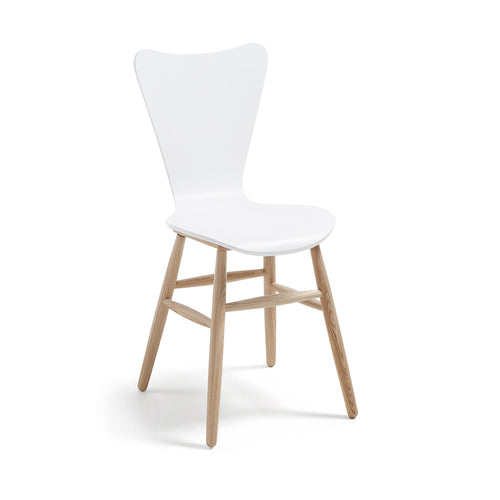Kolby Chair Ash Wood Lacquered Matt White, Chair - Home-Buy Interiors