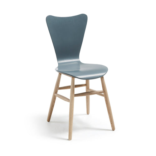 Kolby Chair Ash Wood Lacquered Matt Grey, Chair - Home-Buy Interiors