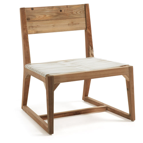 Laurent Chair Teak Rattan White F33, Chair - Home-Buy Interiors
