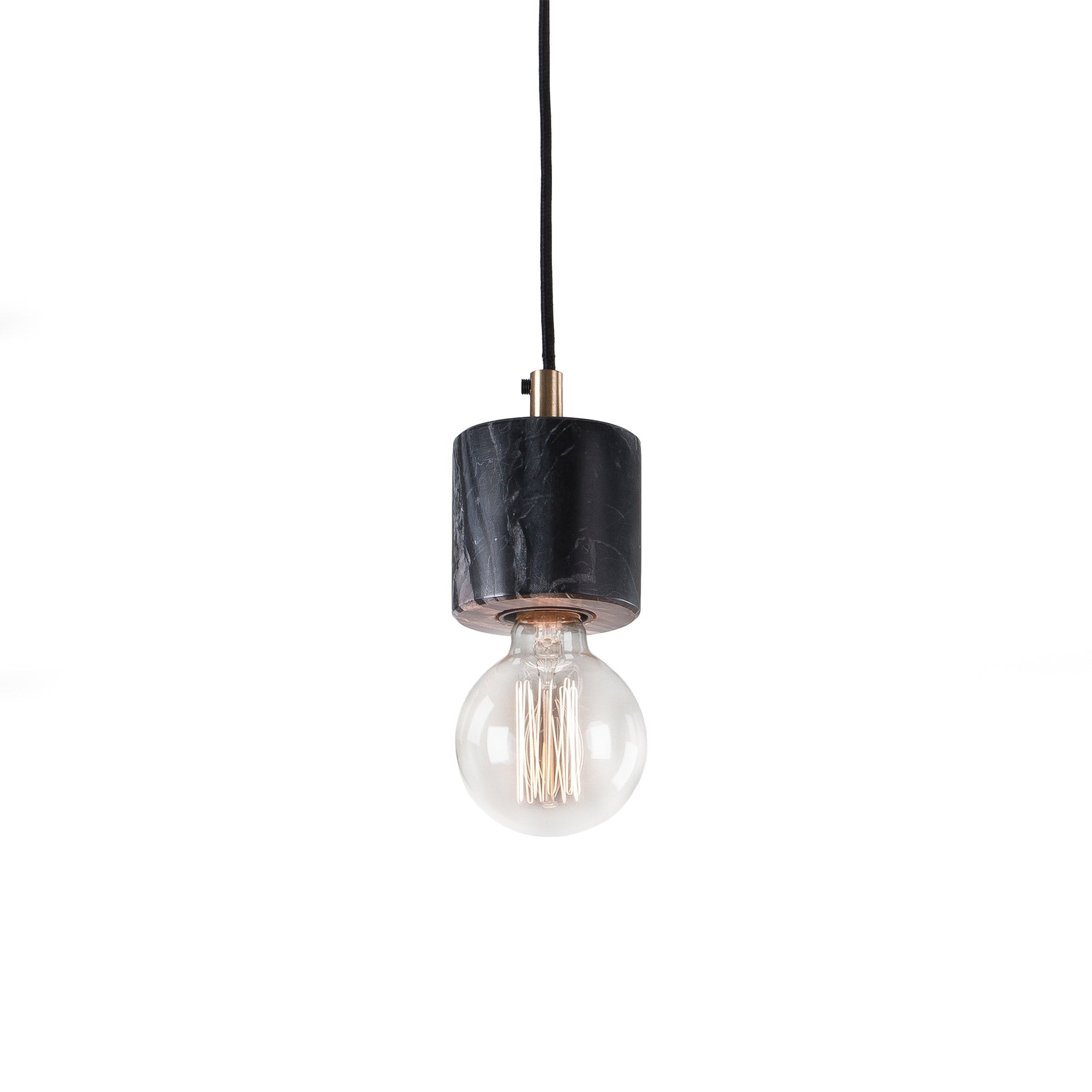 Luciana Pendant Light - Marble Black, Lighting - Home-Buy Interiors