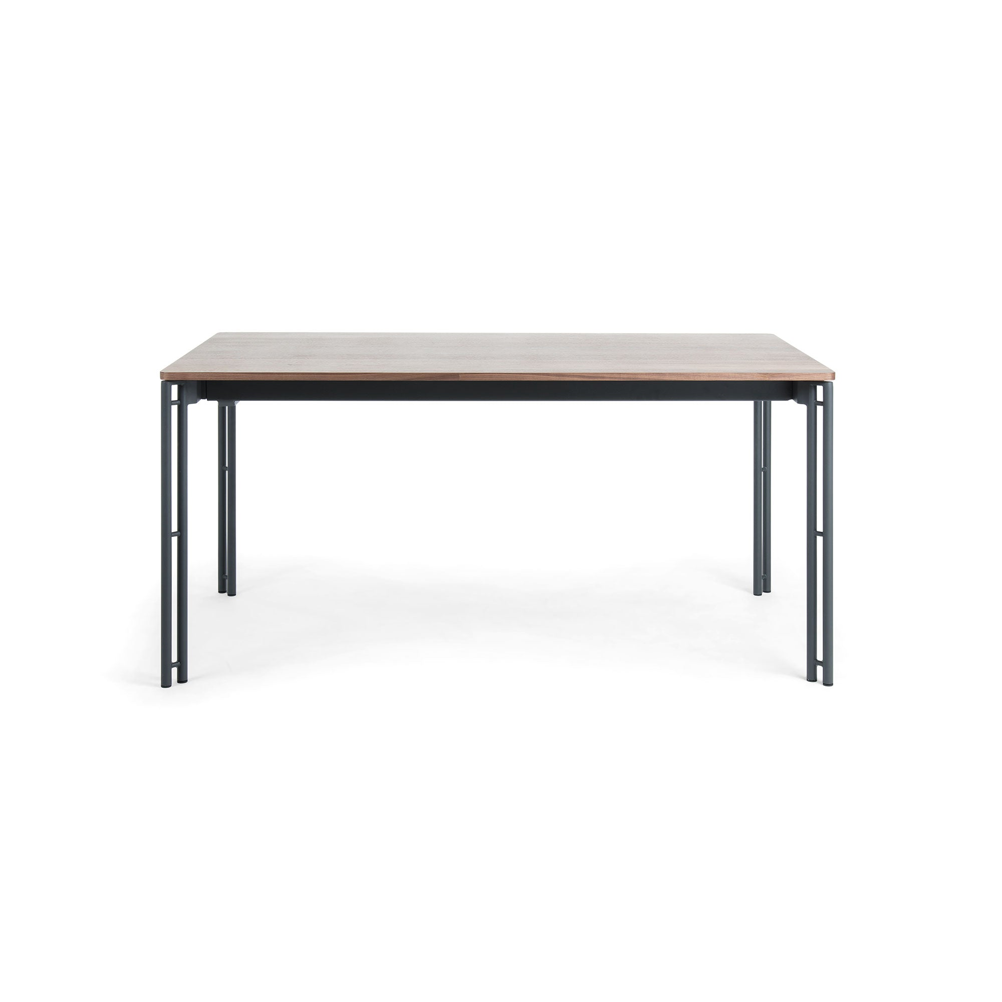 Masonette Table 160-220 graphite & walnut veneer