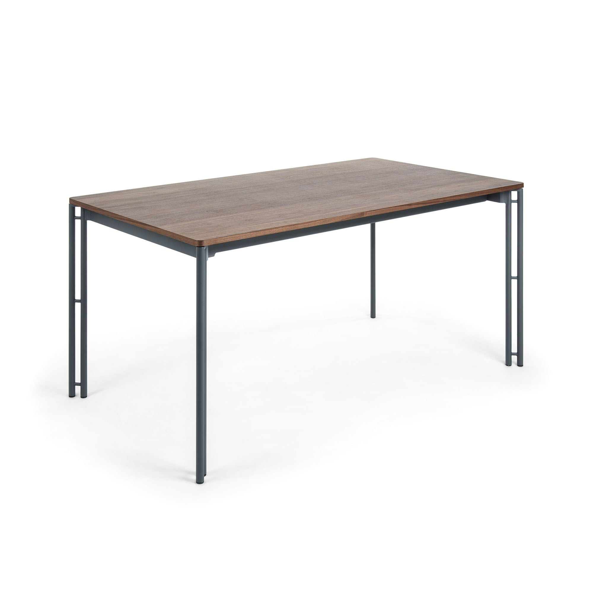 Masonette Table 160-220x90 graphite, walnut veneer, Dining Table - Home-Buy Interiors