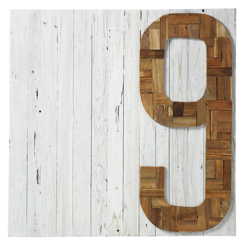 Number Picture 100X100 Wood Natural, Decor - Home-Buy Interiors