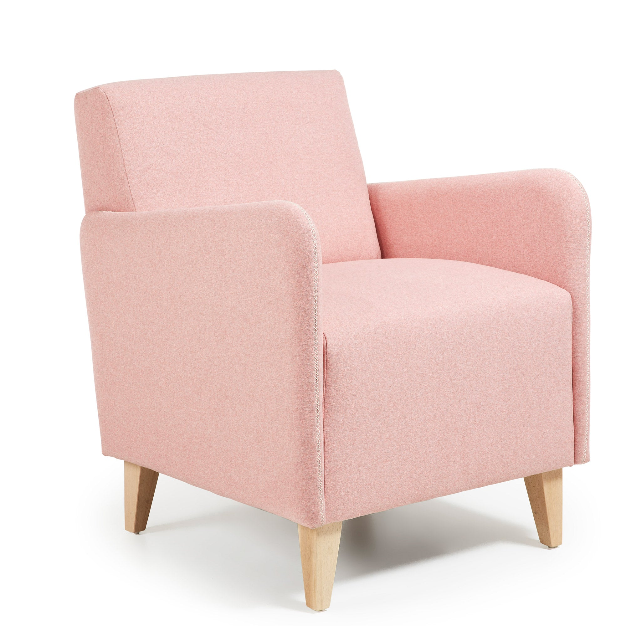 Caprinha Armchair in Pink fabric, Armchair - Home-Buy Interiors
