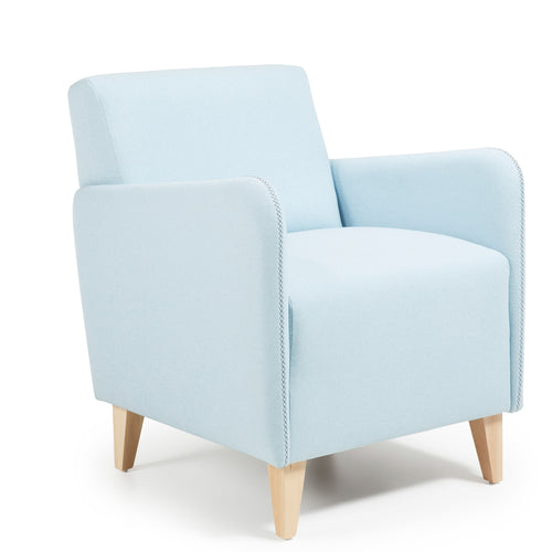 Caprinha Armchair in Blue fabric, Armchair - Home-Buy Interiors