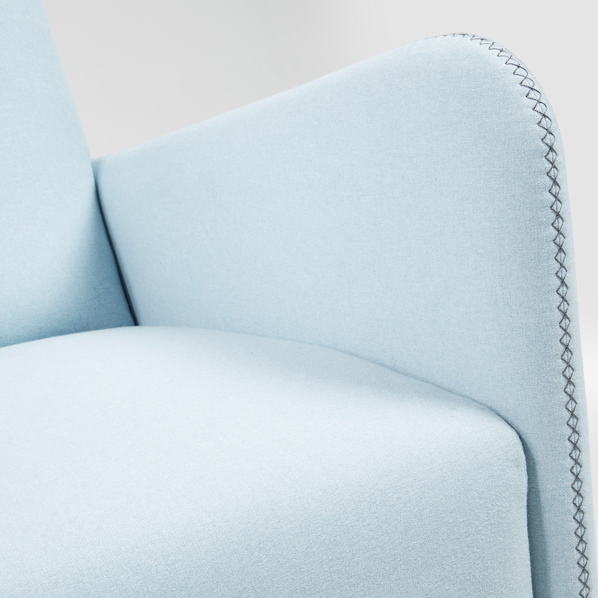 KOPA Armchair in Blue fabric, Armchair - Home-Buy Interiors