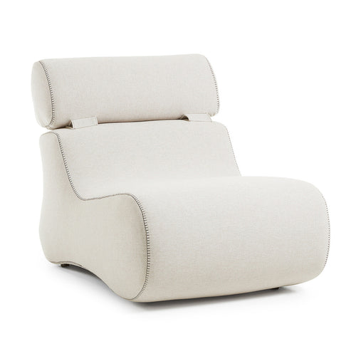 Cocoon Armchair in Beige Fabric
