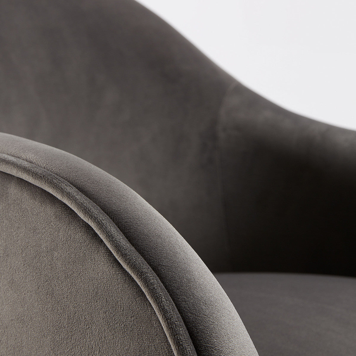 Panill Armchair in Grey Velvet