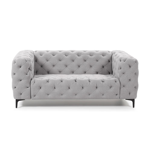 Geisha Light Grey Two-Seater Sofa, Sofa - Home-Buy Interiors