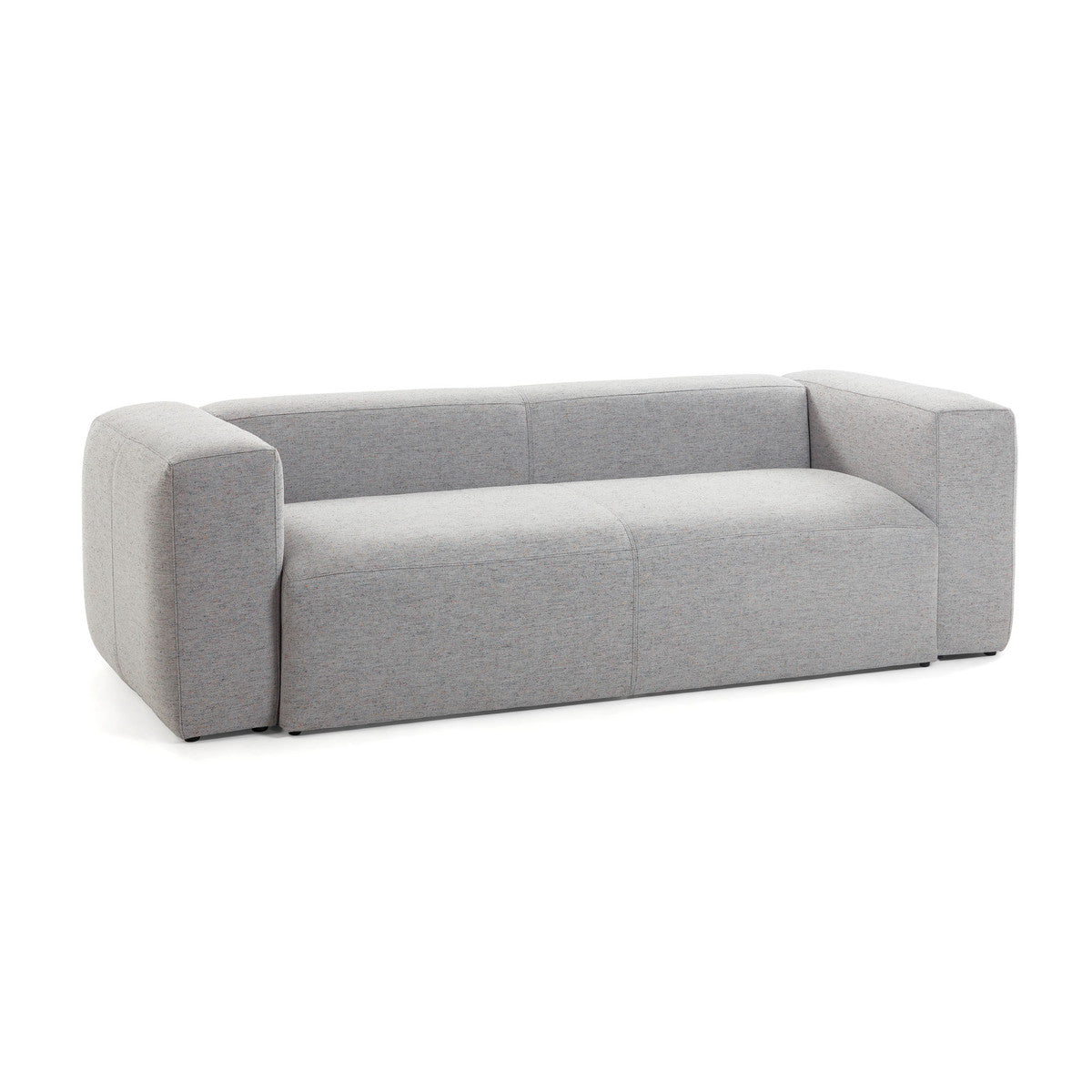 Cube 2 Seat Sofa Light Grey Fabric