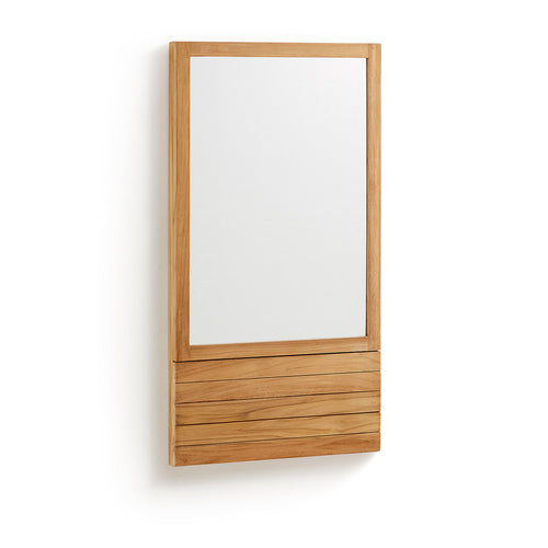 Calista Bathroom Mirror Teak Wood, Bathroom - Home-Buy Interiors