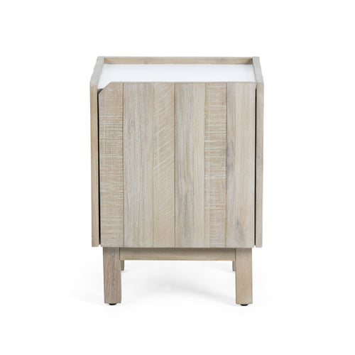 Champ Bedside Table - Matt White, Decor - Home-Buy Interiors