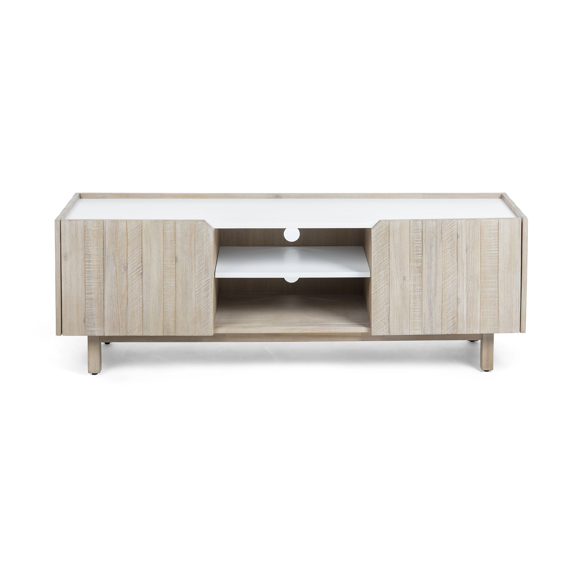 Champ Tv Cabinet - Matt White, TV Unit - Home-Buy Interiors
