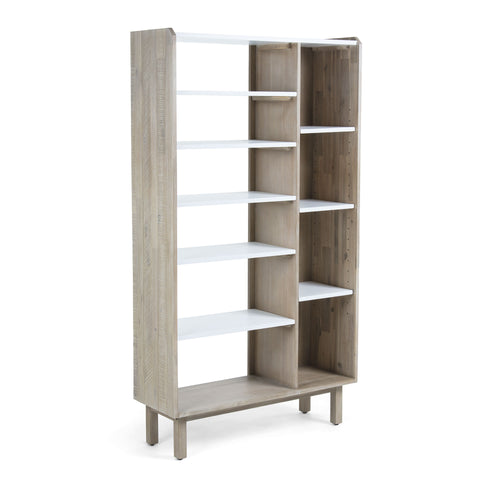 Champ Bookshelf 100x180 acacia wood mdf matt white,, Sideboards/Display Units - Home-Buy Interiors
