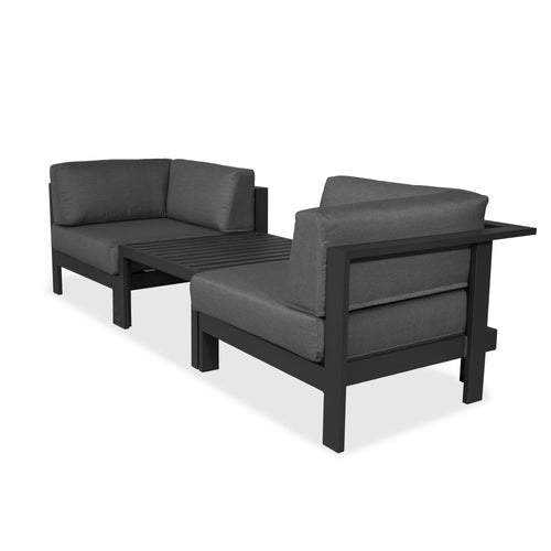 Evette Duo Sofa & Coffee Table Anthracite