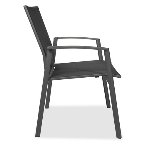 Evette Outdoor Dining Chair with Arms in Anthracite