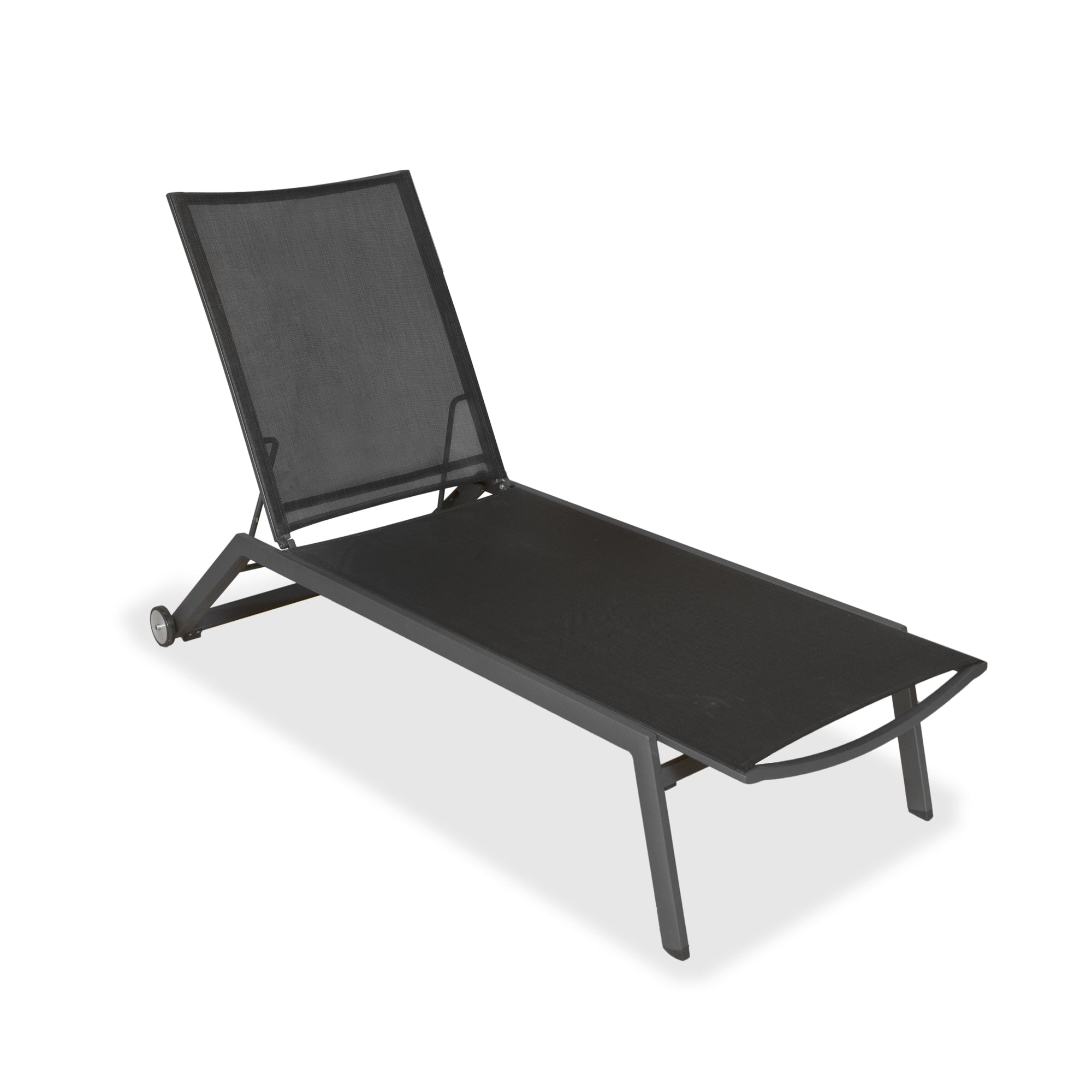 Evette Outdoor Sun Lounge in Anthracite