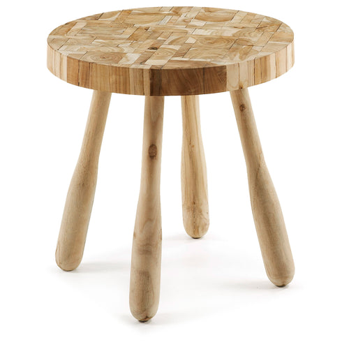 Sidney Side Table Wood Teak, Table - Home-Buy Interiors