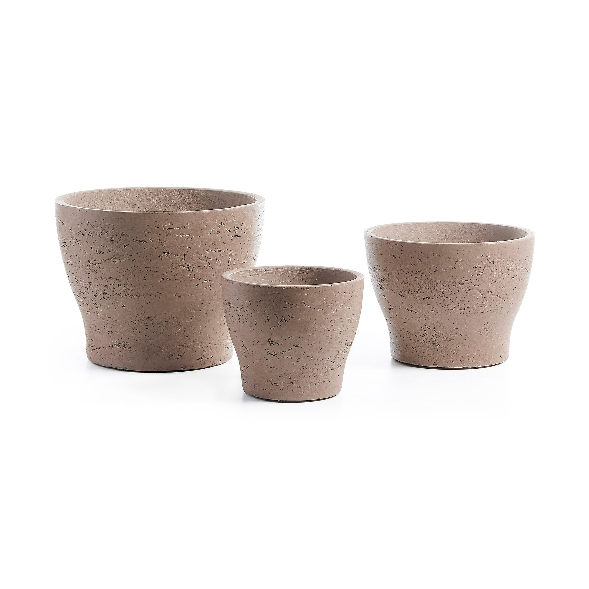 Xul Set of 3 Planters Cement Beige, Decor - Home-Buy Interiors
