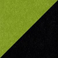 LuxCraft all-weather polywood finish sample Lime Green & Black - LGB
