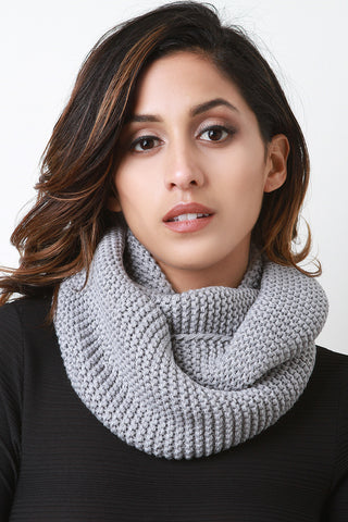 Cozy Simple Knit Circle Scarf