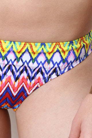 Bohemian Chevron High Neck Bikini Set