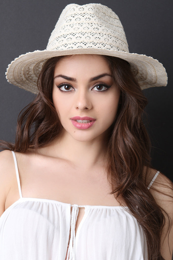 Lace Fedora Hat