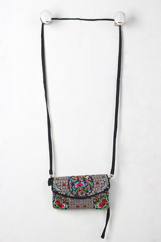 Colorful Embroidered Small Crossbody Bag