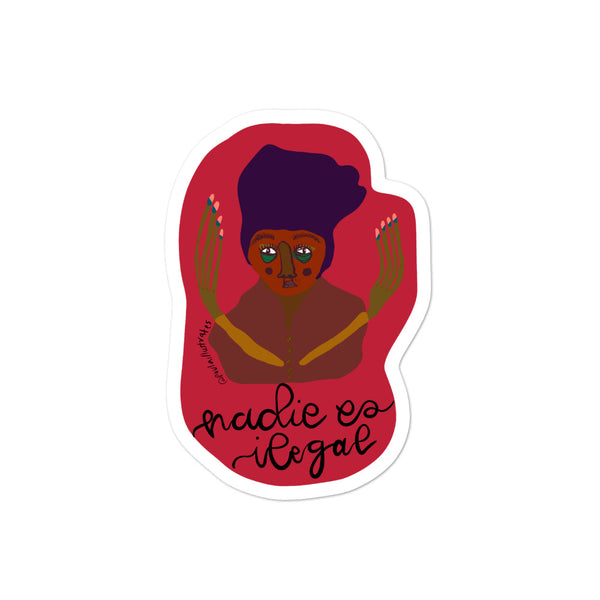 Nadie es Ilegal Bubble-free stickers