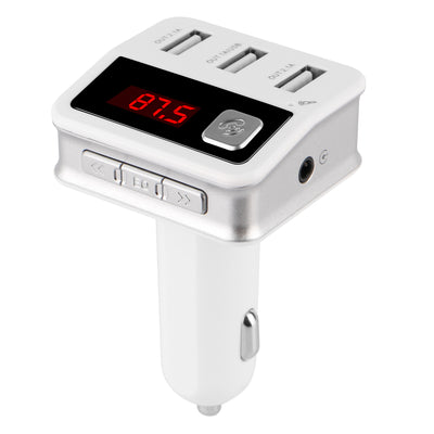 iSunnao Bluetooth Car Kit FM Transmitter - Three USB Chargers 5V/5.1A