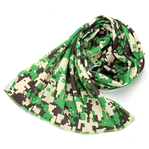 Sports Cooling Thermo Towels, as Heat and Sweat Stress Reducer - 35 x 12 inches (Camouflage)
